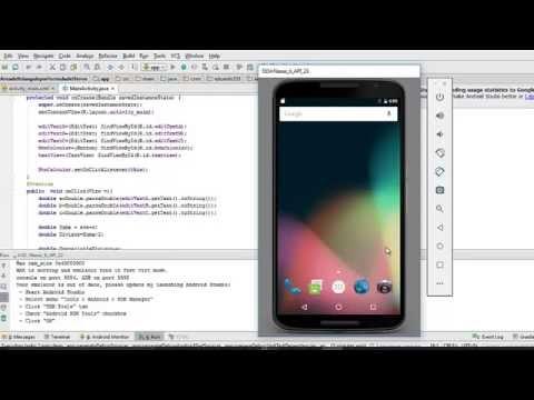 Android Studio - Area del triangulo por formula de Herón