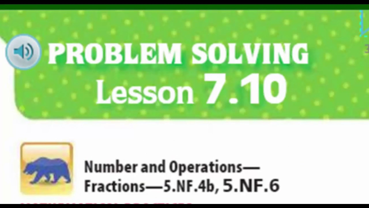 problem solving find unknown lengths lesson 7.10