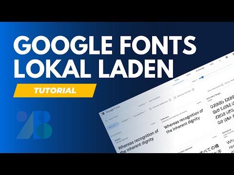 WordPress Google Fonts Lokal Einbinden In Wenigen Minuten - DSGVO / Ladezeiten - Plugin Tutorial