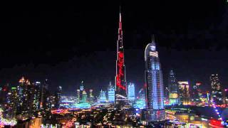 #JaguarWorldFirst  2nd May 2016 Jaguar F PACE LED show on Burj Khalifa