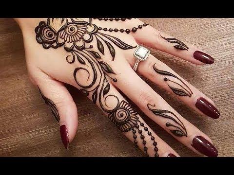 صور نقش الحناء Floral Henna Designs 13