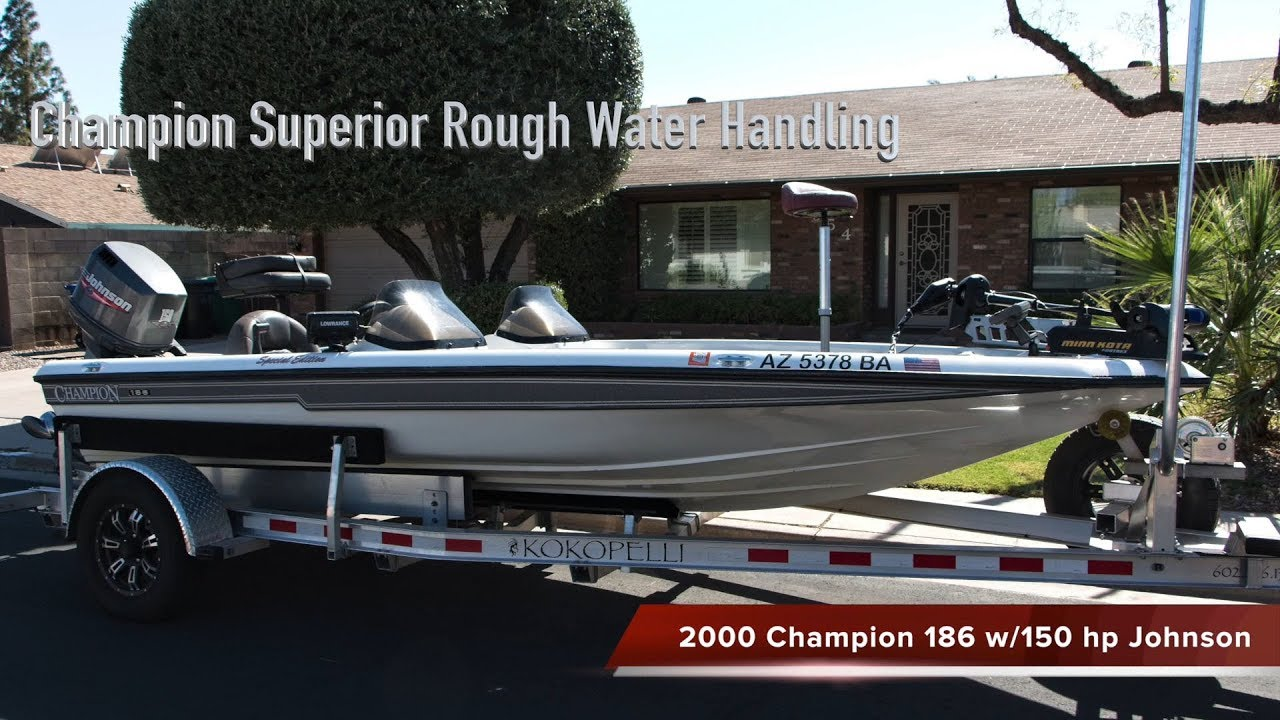 a58b37956f8fd 2000 Champion 186 Bass Boat for Sale - YouTube