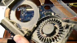 чистка системы охлаждения и замена термопасты ноутбука Lenovo IdeaPad Y580. laptop overheat