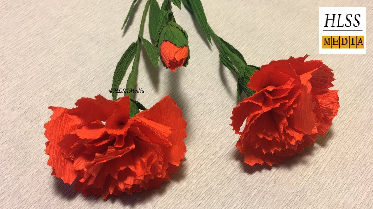 How To Make Carnation Paper Flower Making Paper Flower Easy And
