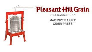 Maximizer cider press demonstration