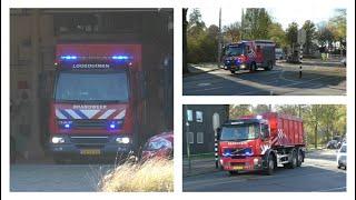 Brandweer Loosduinen en Monster met spoed naar grote brand in Den Haag