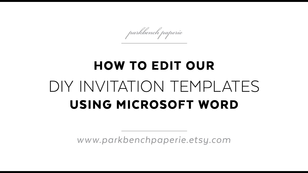 invite templates word