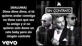 Maluma - Sin Contrato (Remix-letra) ft. Don Omar, Wisin