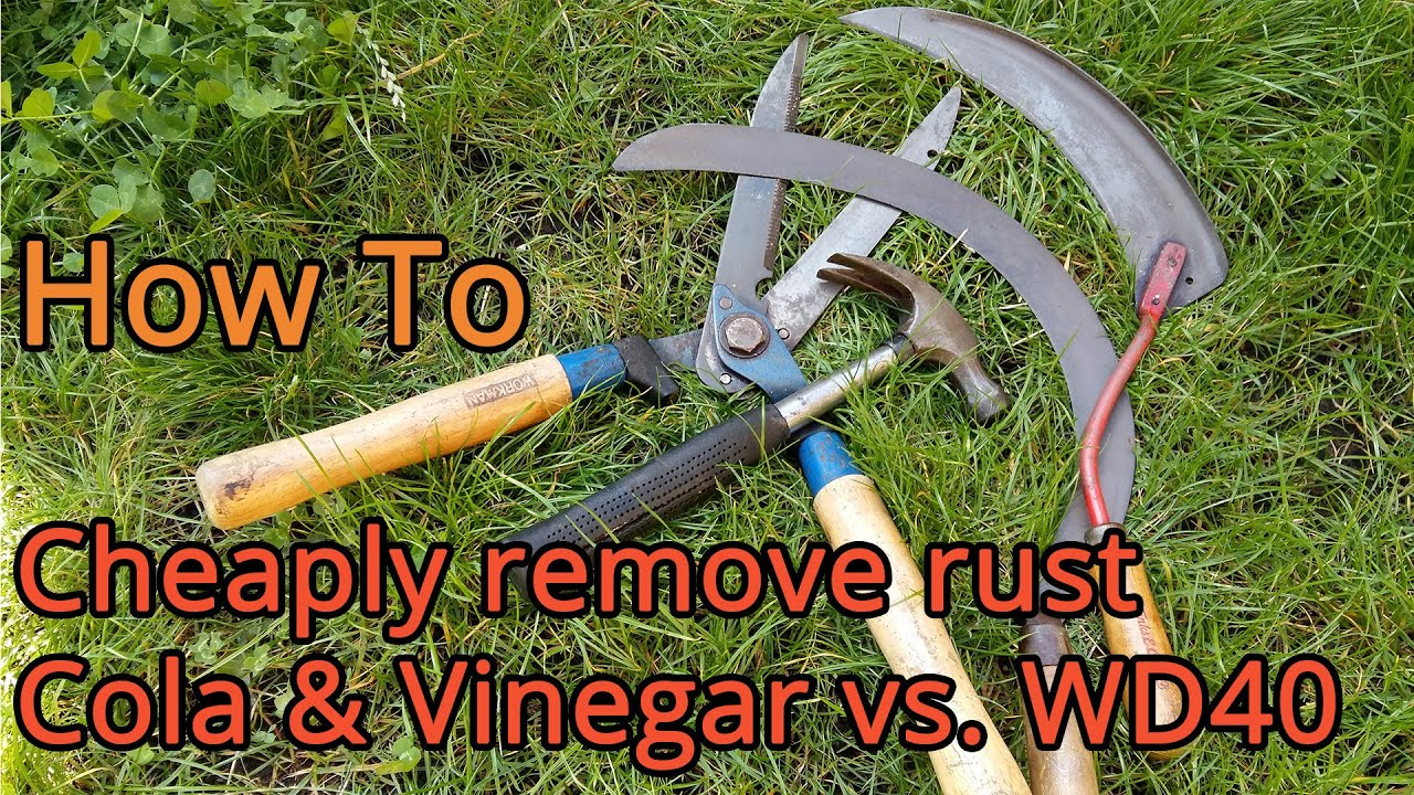 how to cheaply remove rust cola vinegar vs wd40 youtube. Black Bedroom Furniture Sets. Home Design Ideas