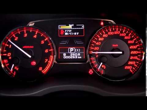 Subaru Wrx S4 メーターの様子 Youtube