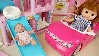 Baby doll Slide house and car toys baby Doli play ground