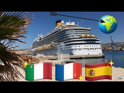 COSTA DIADEMA | MEDITERRANEAN SEA | ITALY | FRANCE | SPAIN | JULY 2016 | CRUISE SHIP | VLOG