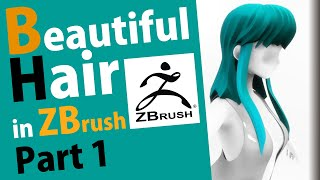 How to make a beautiful hair in Zbrush - Part 1