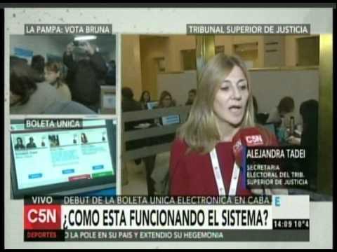C5N - ELECCION 2015: COMO FUNCIONO EL SISTEMA DE BOLETA ELECTRONICA