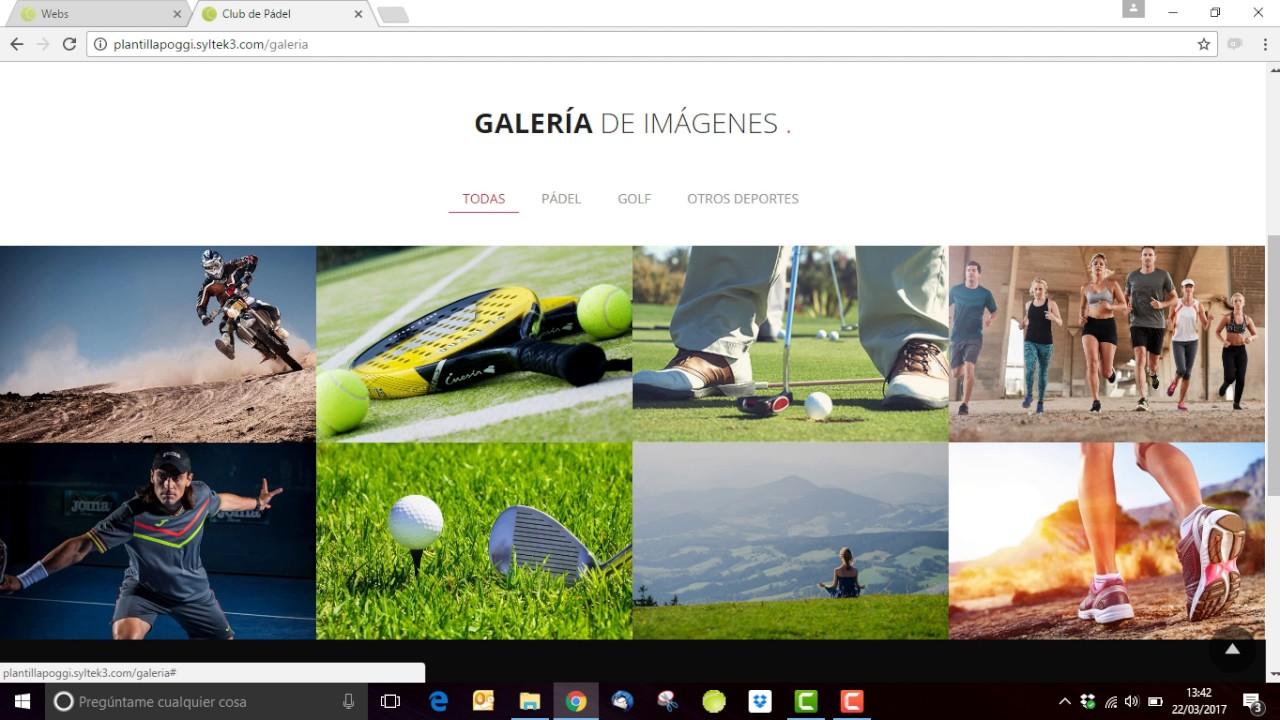 Crear página Galería para la plantilla Poggi - YouTube