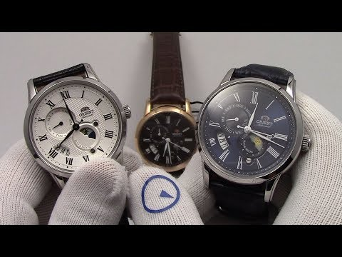 Orient Sun And Moon V3 -  Automatic Mens Dress Watch With Hand Winding & Hacking