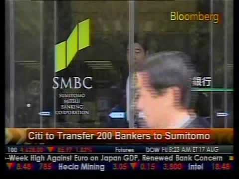 Citi To Transfer 200 Bankers To Sumitomo - Bloomberg
