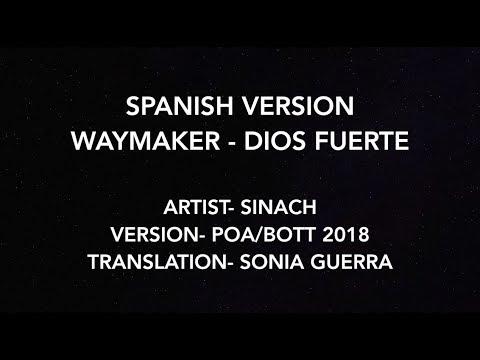 Waymaker by Sinach // Dios Fuerte (Spanish Version) Lyric Video