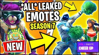 *ALL* NEW Fortnite Season 7 LEAKED EMOTES!! | CHEER UP, CRACKDOWN, CLEAN GROOVE, LAZY SHUFFLE