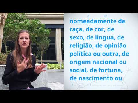 Bruna Boege Pickler, Brazil, reading article 2 of the Universal Declaration of Human Rights