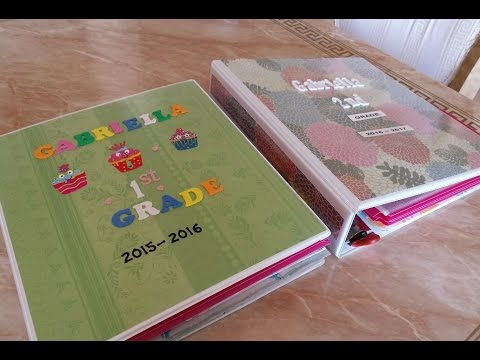 Como organizar material escolar para los niños |  school paper organization