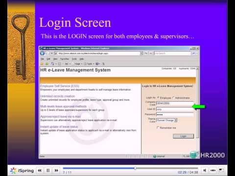 E-leave Management System  Hr2000