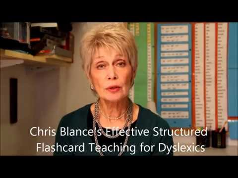 Chris Blance`s introduction to effective structured teaching techniques for Dyslexics