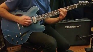 Gibson Memphis Dave Grohl ES-335 Signature (Pelham Blue) - Scarlett Music Demo