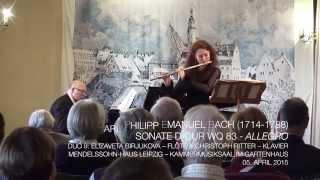 Carl Philipp Emanuel Bach (1714-1788) - Sonate D-Dur Wq 83 - 3. Allegro