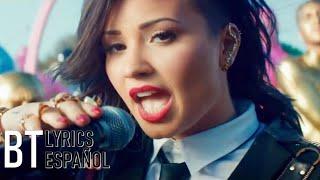 Demi Lovato - Really Don't Care ft. Cher Lloyd (Lyrics + Español) Video Official