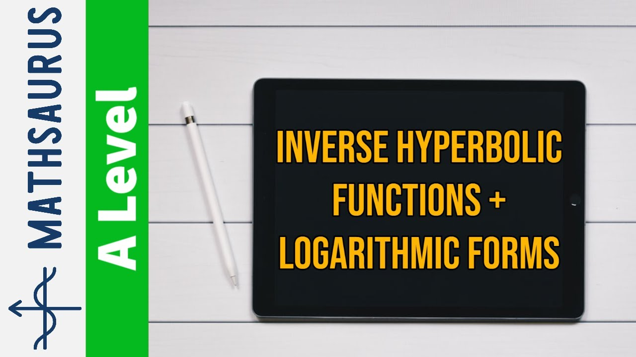 Inverse Hyperbolic Functions And Their Logarithmic Forms Youtube