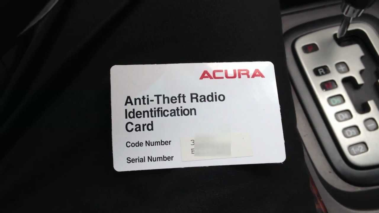 medium resolution of how to reset acura anti theft radio retrieve serial number code youtube