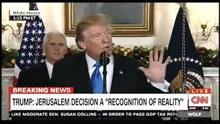 Trump recognizes Jerusalem as capital of Israel, announces embassy move