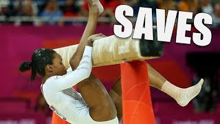Amazing gymnastics saves | Compilation