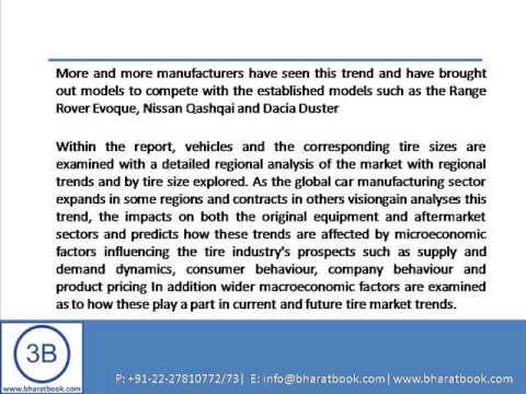 Bharat book Presents : Global Automotive Tires Market 2013 2023