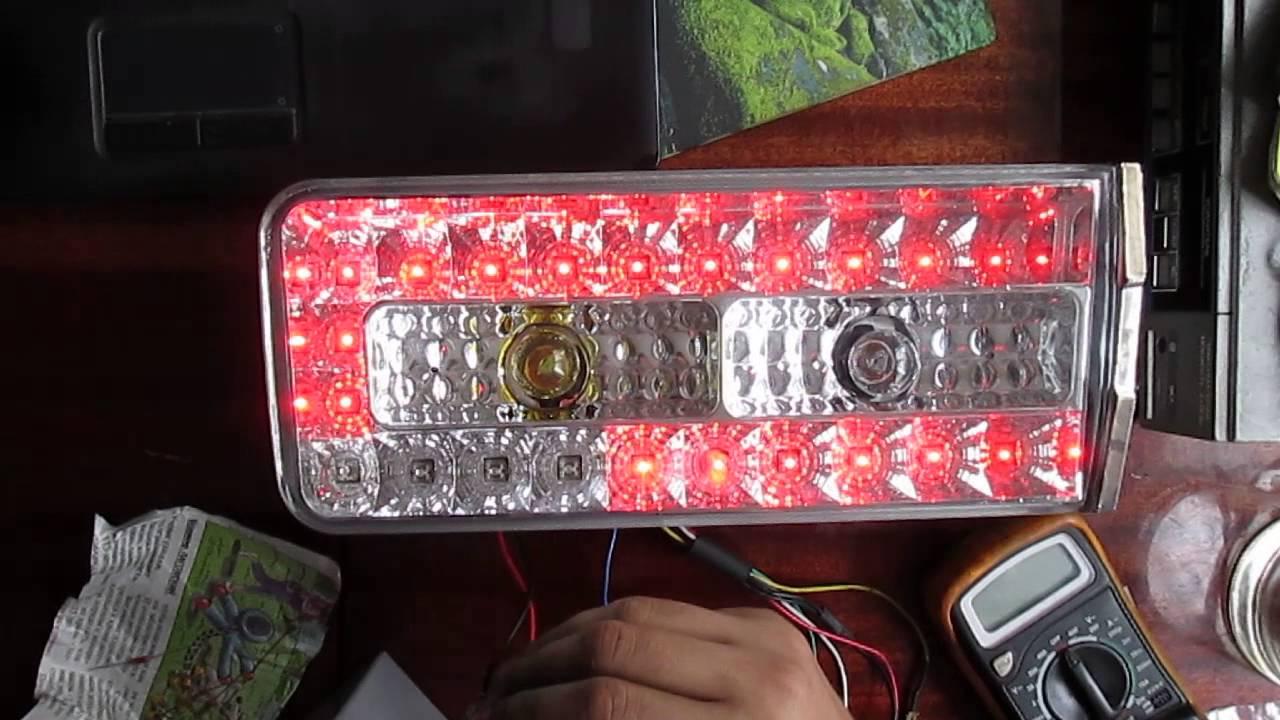 Светодиодные задние фары Ваз 2106 - YouTube