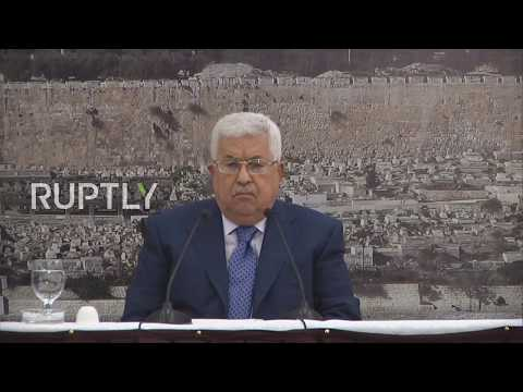 State of Palestine: Abbas lashes out over US Israeli embassy move, calls it 'settlement outpost'