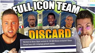 FIFA 18: FULL ICON Battleship Wager geht KOMPLETT SCHIEF ... Komplettes ICON TEAM DISCARDED ?!
