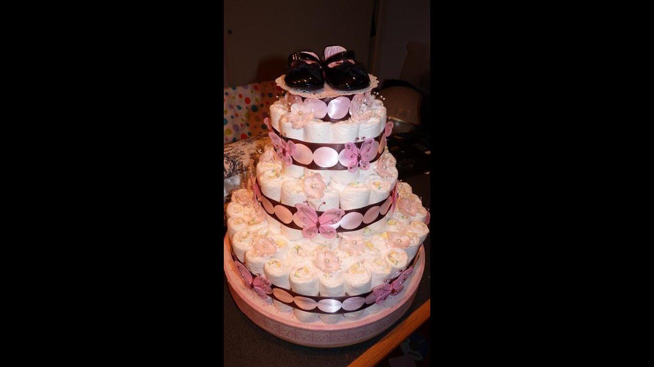 Diaper Cake For Baby Girl Youtube