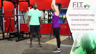 Forever F.I.T. Exercises - Overhead Forward Lunges