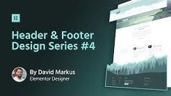 Header & Footer Design #4: Travel Website