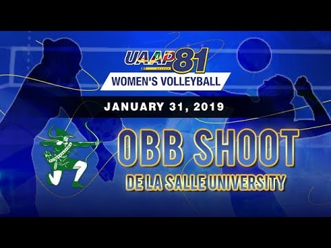 UAAP 81 Women's Volleyball: De La Salle University | OBB Shoot - January 31, 2019