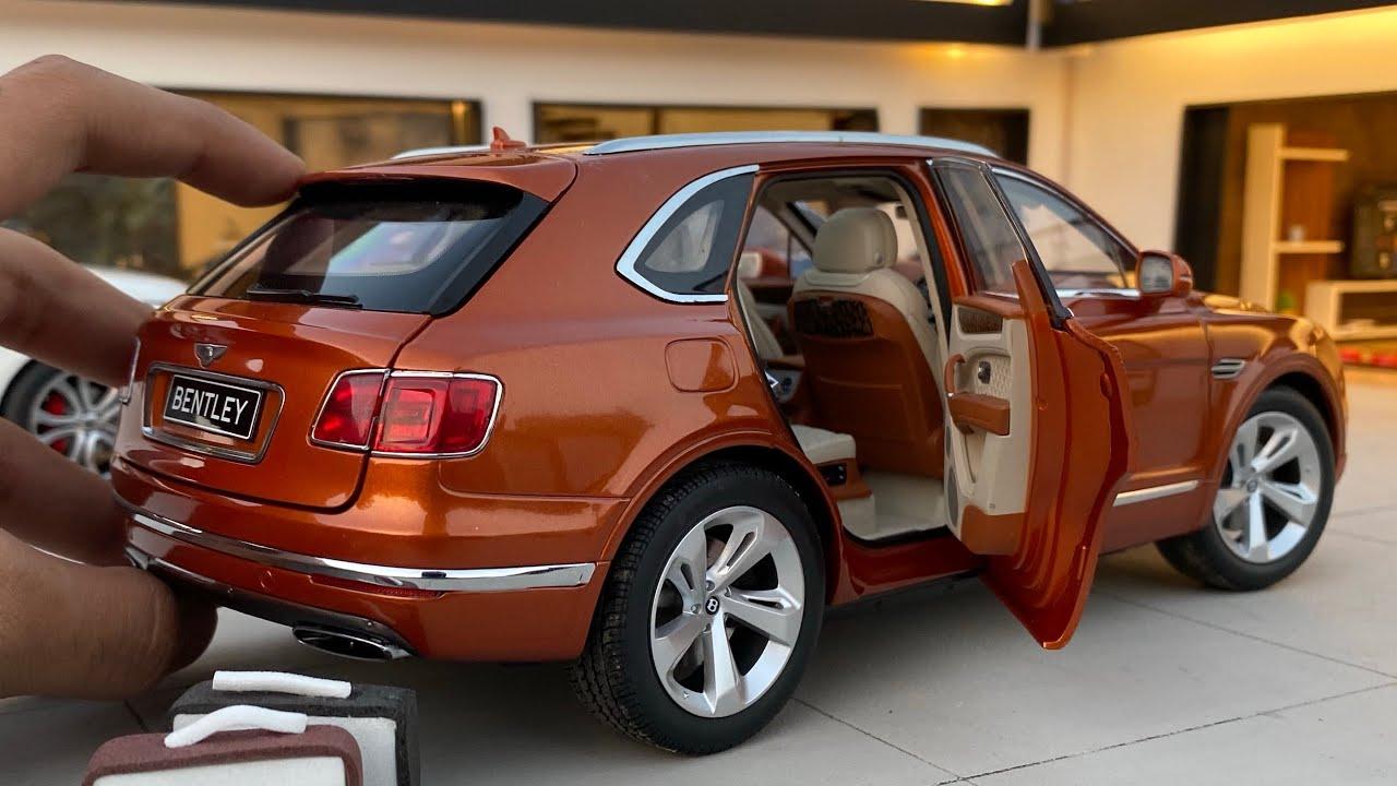 Mini Bentley Bentayga 1/18 Diecast Model Car Unboxing | Luxury SUV | Bentley Shop