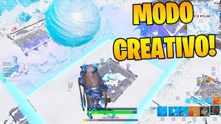 Je VISIT l'AREA de L'ICE avec un BUG en MODE CREATIVE!! 🗻😱 FORTNITE