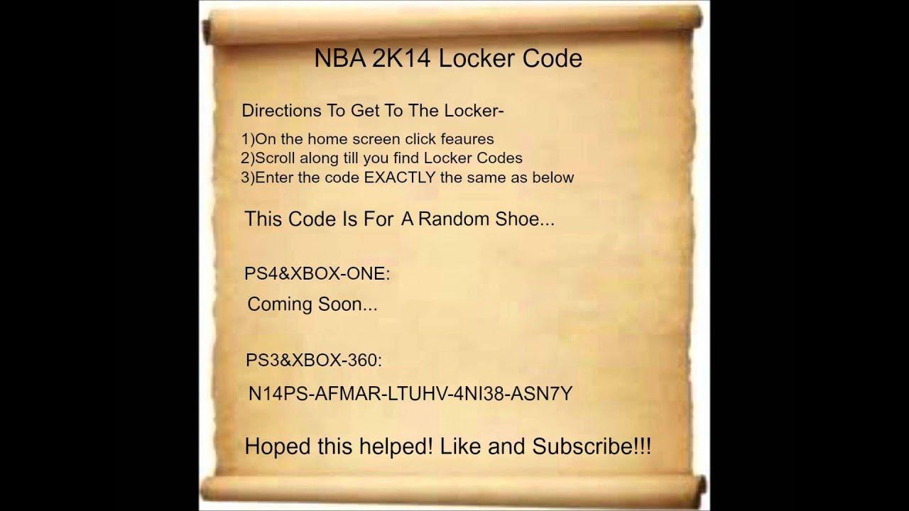 nba 2k14 shoes code - FREE ONLINE