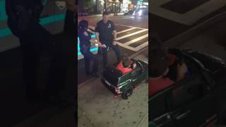 Twins in Toy Car Get Pulled over By Police Officers
