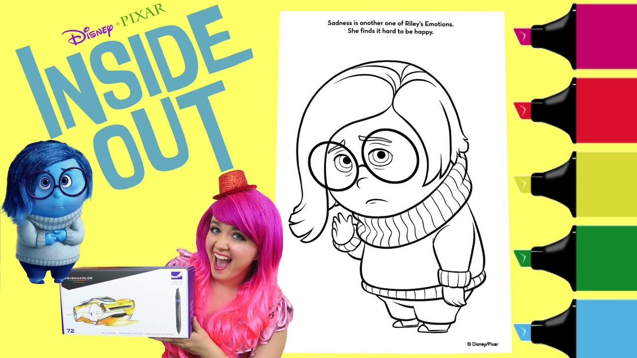79 Coloring Pages Inside Out Sadness