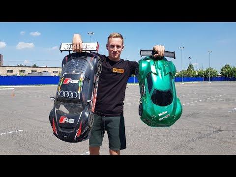 AUDI R8 против Hobao Hyper VT ... Мощные тачки 100+ км/ч