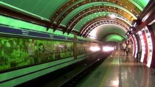 The subway (Metro). Saint-Petersburg. / Метро. Санкт-Петербург.