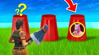 TROLLING PEOPLE WITH THE CUP GAME! | Fortnite Battle Royale